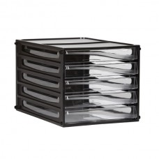 Esselte A4 Black Document Cabinet 5 Drawer
