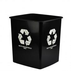 Italplast 15L Black Recycling Materials Only Bin