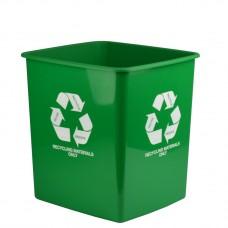 Italplast 15L Green Recycling Materials Only Bin