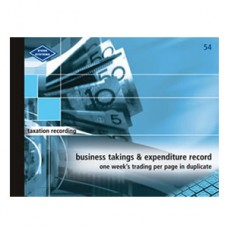 Business Takings/expenditure Book No. 54
