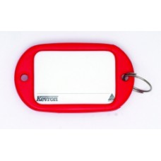 Kevron Jumbo Key Tags Red Pkt 12