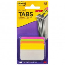 Post It Durable Filing Tabs Fluro Colours Pkt 4