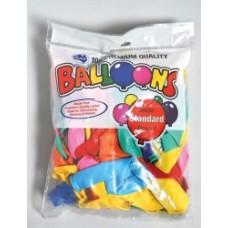 Aplen 30cm Balloons Assorted Colours Pkt 100