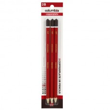 Columbia 2B Copperplate Lead Pencils Pkt 3