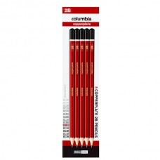 Columbia 2B Copperplate Lead Pencils Pkt 5