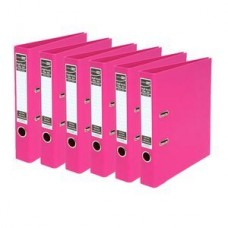 Colourhide A4 PE Pink Lever Arch File Box 10