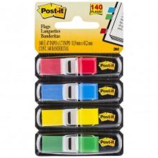 Post It Mini Flags 4 Basic Colours