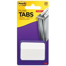 Post It Durable Filing Tabs 50x38mm White