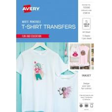 Avery White T-shirt Transfer Pkt 5
