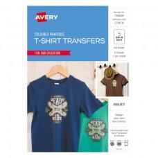 Avery Coloured T-shirt Transfer Pkt5