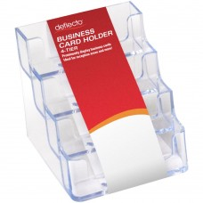Deflect-O 4 Compartment Business Card Holder