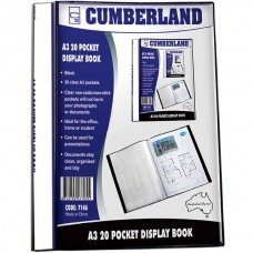 Cumberland A3 20 Pocket Display Book