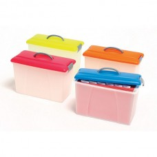 Crystalfile Carry Case Pink Lid with a Clear Case