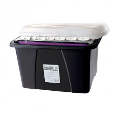 Crystalfile Enviro Porta Box Black Clear Lid