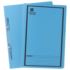 Avery Foolscap Spiral Spring File Blue Box 25