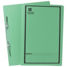 Avery Foolscap Spiral Spring File Green Box 25