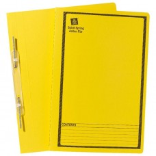 Avery Foolscap Spiral Spring File Yellow Box 25