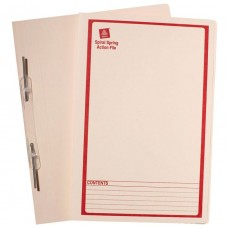 Avery Foolscap Spiral Spring File Red Print on Buff Box 25