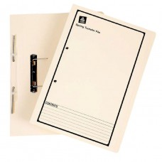 Avery Foolscap Spiral Spring File Buff with Black Print Box 25