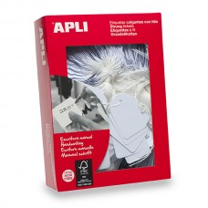 Apli 390 White Strung Tag 22 x 35mm Box 500