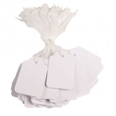 Apli 384 White Strung Tags 9 x 24mm Pack 100