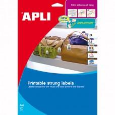 APLI Printable Strung Tickets 22x35mm Pkt 10