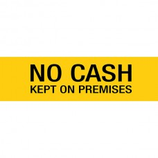 Apli Sign No Cash Left On Premises Self Adhesive
