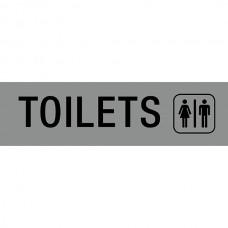 APLI Adhesive Silver Toilets Sign