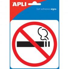 APLI Self Adhesive No Smoking Sign