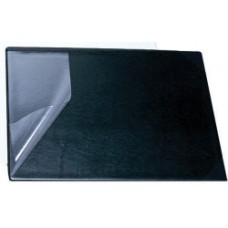 Bantex Black Desk Pad With Clear Plastic Flap