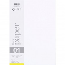 Quill A4 125gsm White Paper Pkt 250
