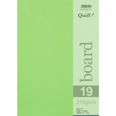 Quill A4 210gsm Lime Board Pkt 50