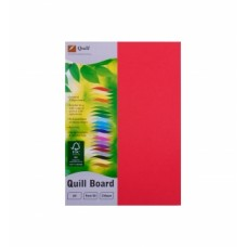 Quill A4 210gsm Red Board Pkt 50