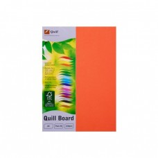 Quill A4 210gsm Orange Board Pkt 50