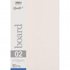 Quill A4 210gsm Cream Board Pkt 50