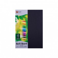 Quill A4 210gsm Black Board Pkt 50