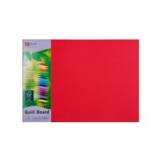 Quill A3 210gsm Red Board Pkt 25