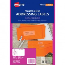 Avery 21up Frosted Clear Address Labels for Inkjet Printer