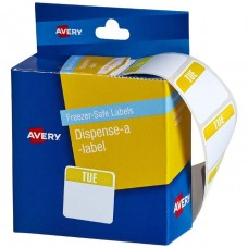 Avery Freezer Safe Tuseday Printed Labels