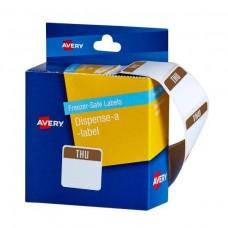 Avery Freezer Safe Thursday Printed Label