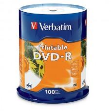 Verbatim DVD+R 4.7GB 16x White inkjet Printable Spindle 50
