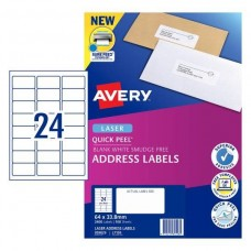 Avery 24up Laser Address Labels Box 100