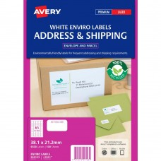 Avery 65up Recycled Mailing Labels White Box 100