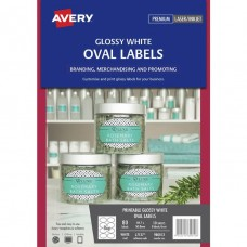 Avery 8up Glossy Oval Labels Pkt 10