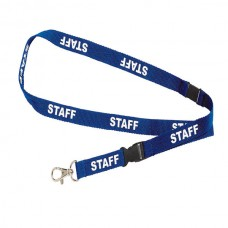 Lanyard Preprinted Blue Staff Pkt 5