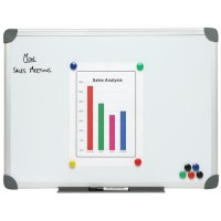 NOBO Magnetic Whiteboard 600x450mm Aluminium Frame