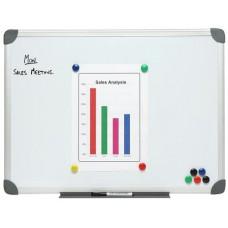 NOBO Magnetic Whiteboard 600x900mm Aluminium Frame