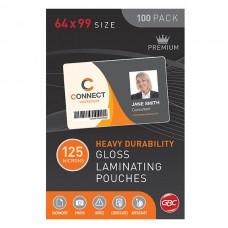 GBC Lamination Pouch 64x99 125 Micron Pkt 100