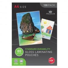 GBC A4 80 Micron Laminating Pouches Box 100