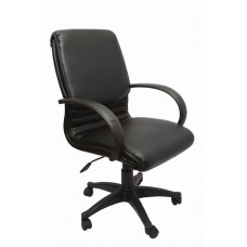 CL610 Medium Back Executive Chair - PU Black